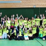 """Erst Völkerball und dann ein """"Harlem-Shake"""": Die 7c der Gaildorfer Schloss-Realschule stellte ein gelungenes Turnier auf die Beine. Foto: Hans Buchhofer"""