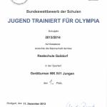 2013 - Turnen - Urkunde I
