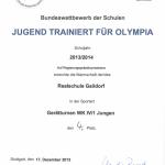 2013 - Turnen - Urkunde II