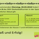 2018-03-20 - Basketballturnier - Info